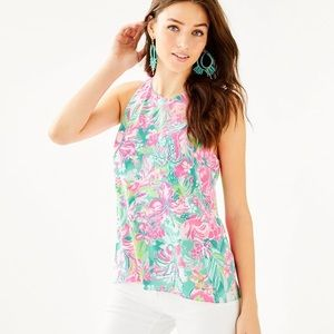 NWT Lilly Pulitzer Lyle Top Multi Not On The Scene